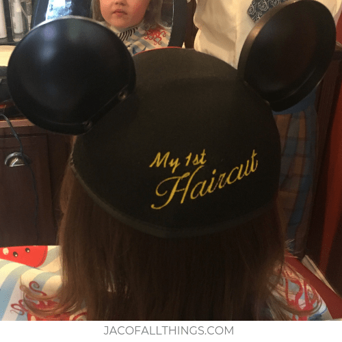 My First Haircut Mickey ears given after first haircut at Disney World