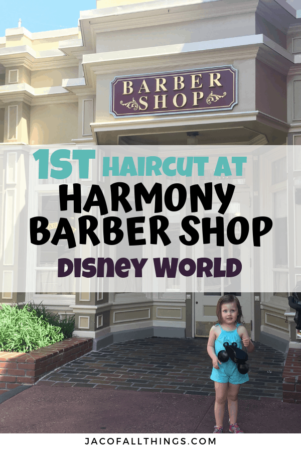 Daughter's first haircut at Harmony Barber Shop