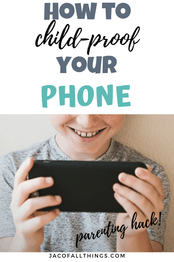 Learn how to child-proof your iPhone, iPad, or Android device! This simple tech hack will prevent your kids from getting into your phone and making changes! #techhack #parentinghack #everydayadvice