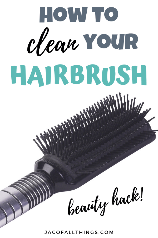 Learn how to clean your hairbrush with these easy tutorials for all brush types. Learn how to get hair and products out of your brush with water and other simple DIY ingredients. So simple and it works! #cleaninghack #beautyhack
