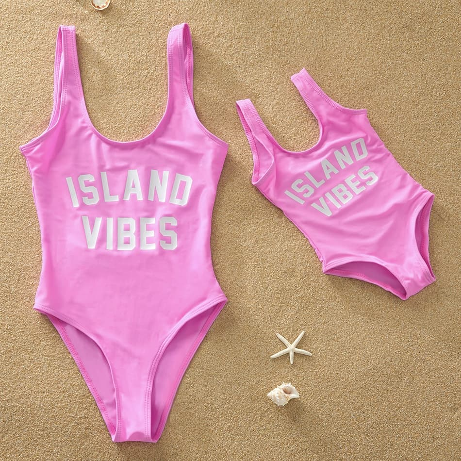 Island Vibes Matching Bathing Suit