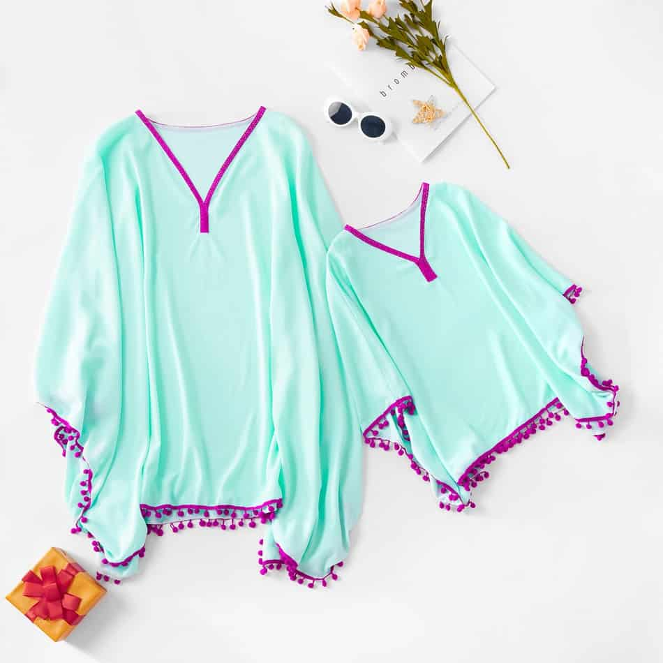 Matching bathing suit cover ups