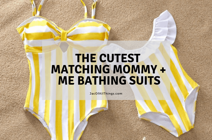 Mommy and me matching bathing suits