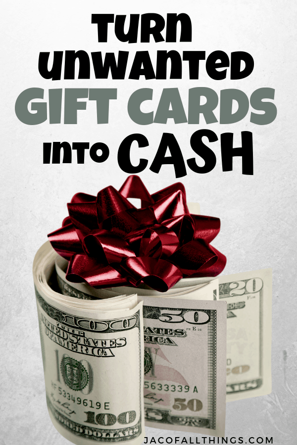 turn unwanted gift cards into cash