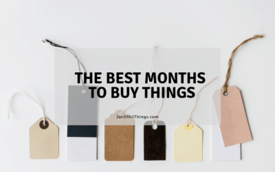 The Best Months to Buy Things (Your guide to shopping in 2019)