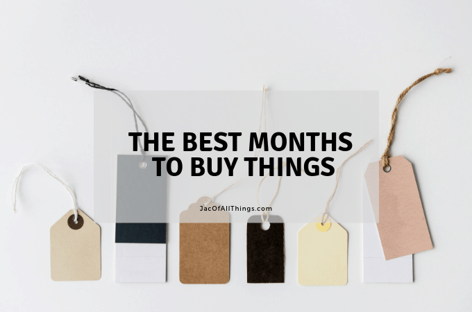 Do you want to learn the best months to buy things? Read this shopping guide to learn what to buy every month of the year! Save money shopping this year with this shopping tip! #shoppingtips