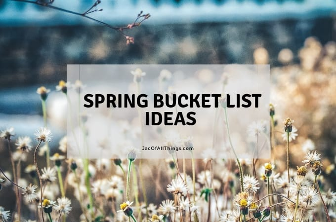 Spring Bucket List: Fun Ideas and Activities to do in the Spring