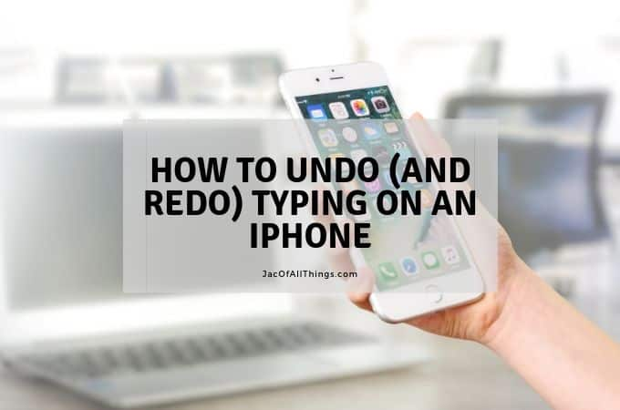 how to undo and redo typing on an iphone
