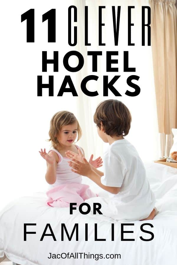 Read these genius hotel hacks for families to make your next hotel stay amazing! Traveling with kids gets easier with these great tips and tricks for hotel stays to use on your next vacation. #traveltips #hotel #hoteltrips #hotelhacks