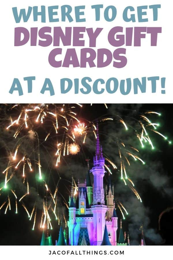 Where to get Disney gift cards at a discount
