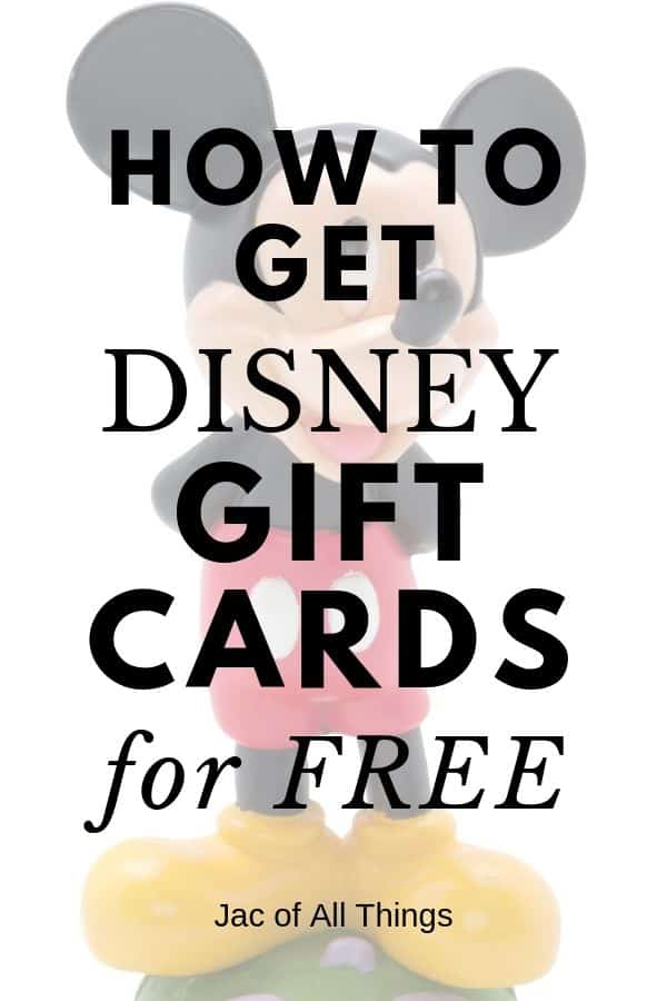 how to get Disney gift cards for free