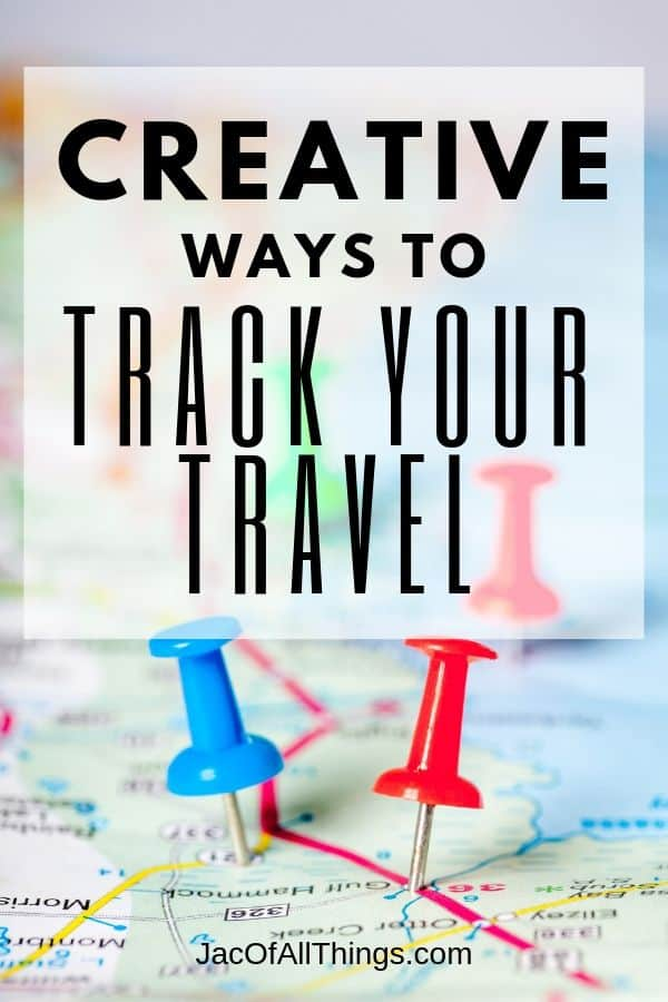 There are so many great ways to track your travel memories. The fun does not have to stop when you get home from your trip. You can showcase your travels and adventures for years to come with these creative ways to track travel including push pin maps, scratch off maps, pillows, mugs, and more!