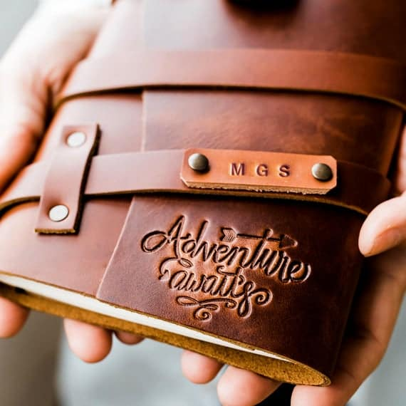 Personalized Leather Travel Journal