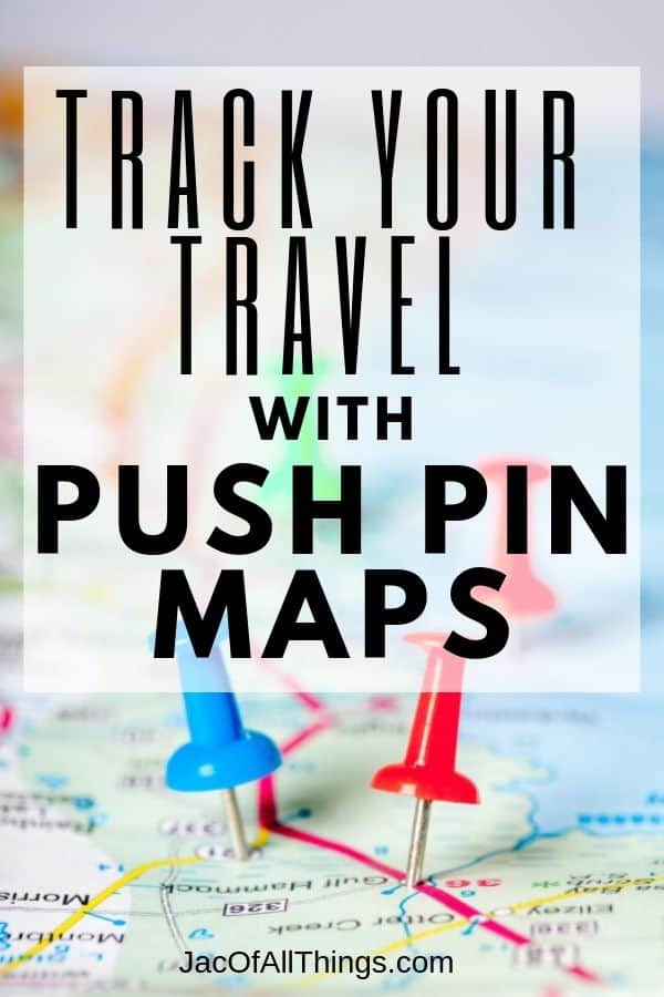 track travel with push pin maps