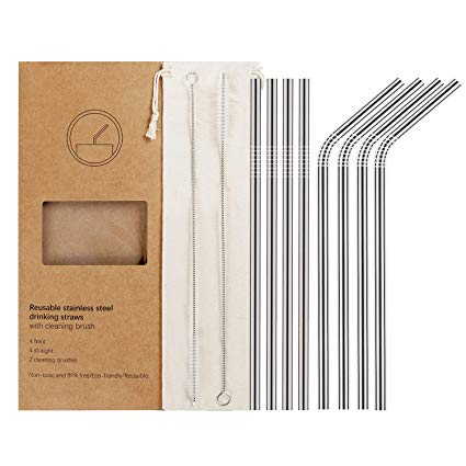 Stainless Steel Straw Set or Travel Straw