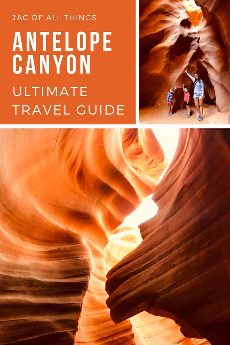 A must read travel guide to visiting Antelope Canyon. Read more about our experience visiting Lower Antelope Canyon, a slot canyon in Page, Arizona and learn all the tips and tricks you need to have an incredible experience in this travel guide. #travelguide #antelopecanyon #slotcanyon