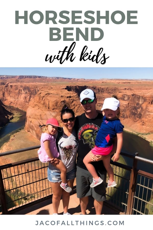 Your complete travel guide to visiting Horseshoe Bend with kids! Don't miss out on this natural beauty if you are in Northern Arizona! #travelguide #travel #horseshoebend