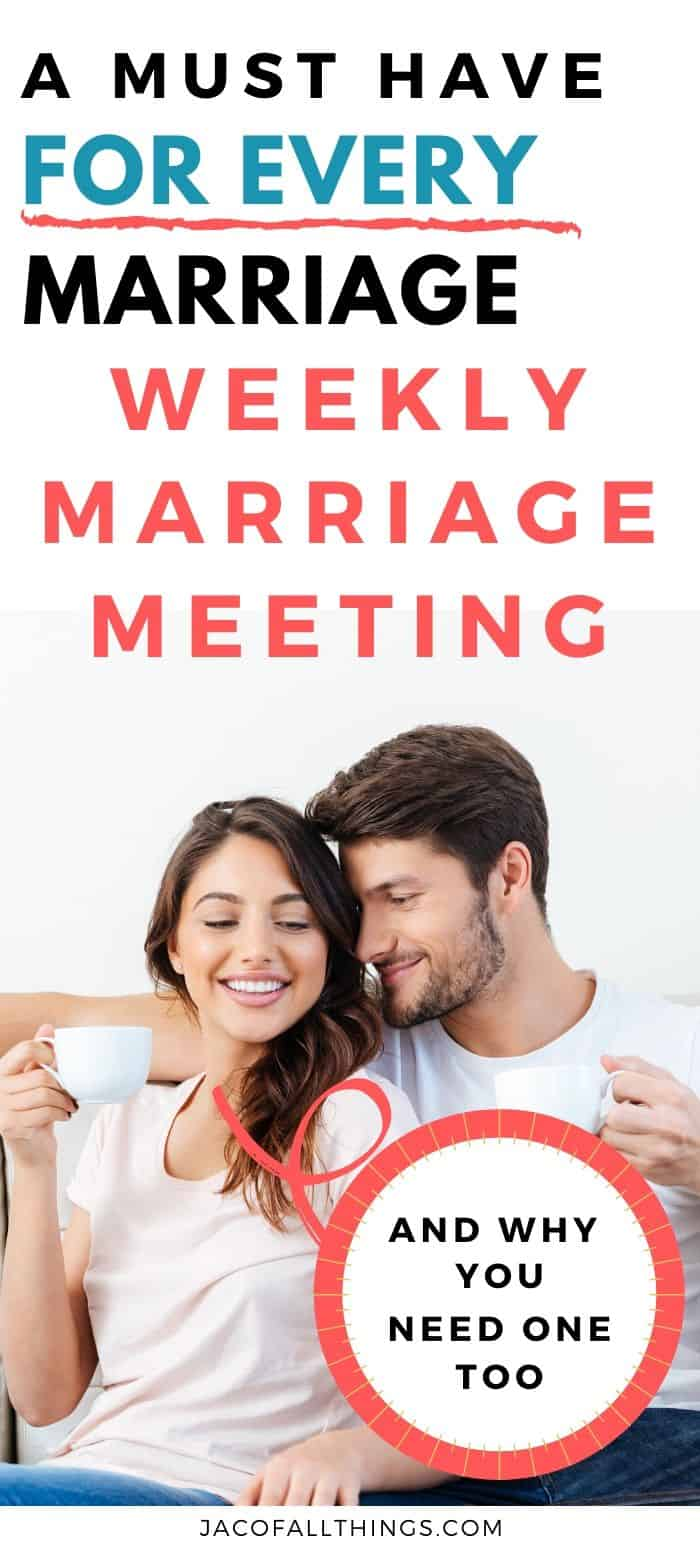 weekly marriage meeting for a strong marriage