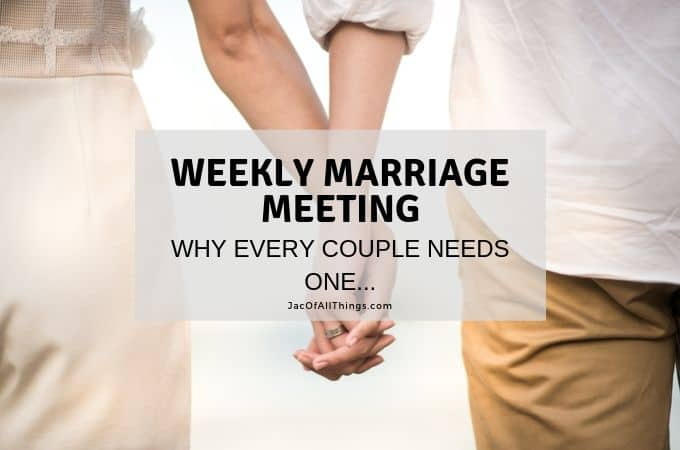 Why a Weekly Marriage Meeting is Critical for Every Married Couple