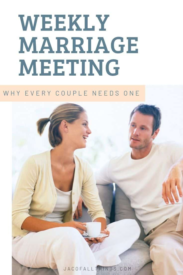A weekly marriage meeting is so important for every marriage. Learn why this simple meeting matters so much and how you can start creating marriage meetings with your husband or wife. Complete with agenda topics.