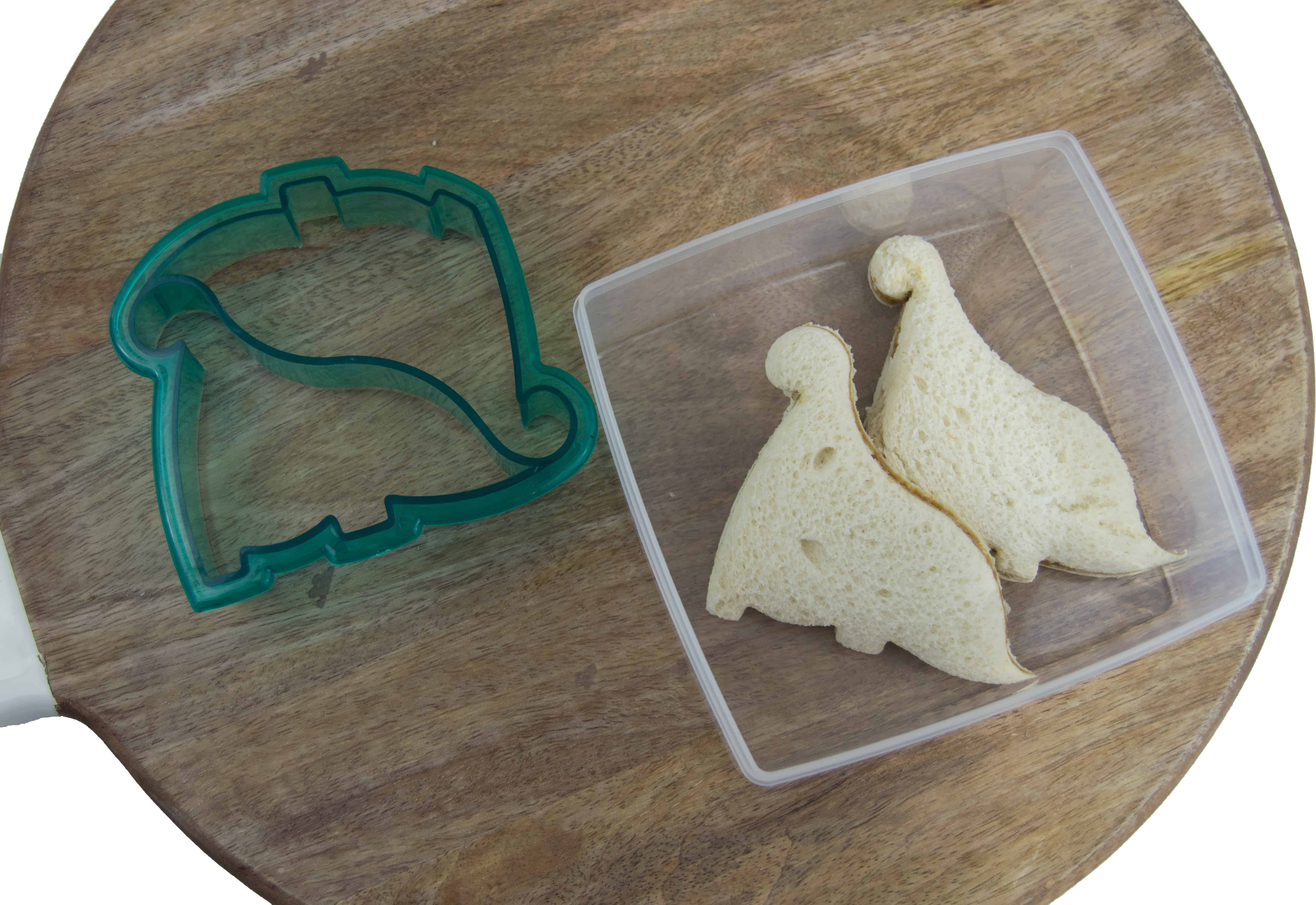 Use fun sandwich cutters to make school lunch more fun for picky eaters. School lunch hack!