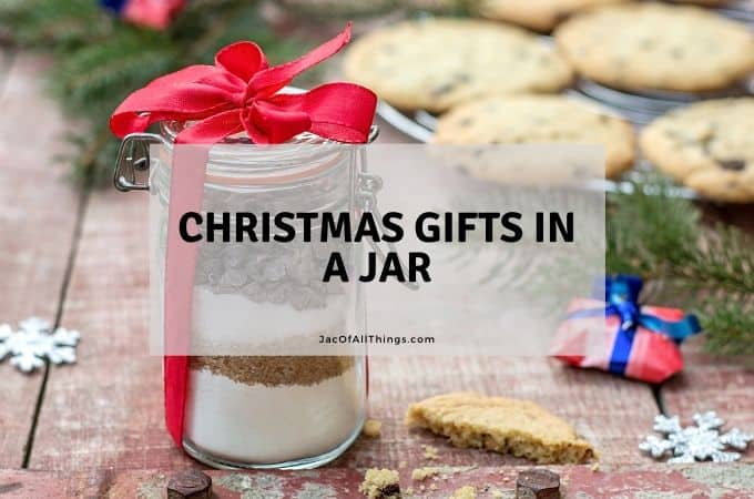 Christmas gifts in a Mason jar