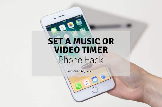 Set a music timer on iphone