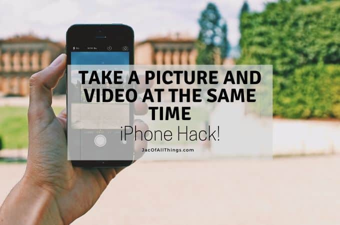 Phone Hack! Take a Picture and a Video at the Same Time!