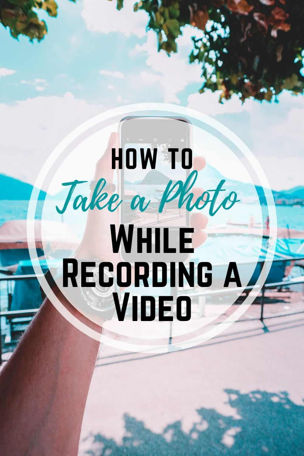 Check out this super easy iPhone and Android hack! Learn how to take a photo at the same time you are taking a video on your phone! Never again have to choose between taking a video or getting that perfect picture!