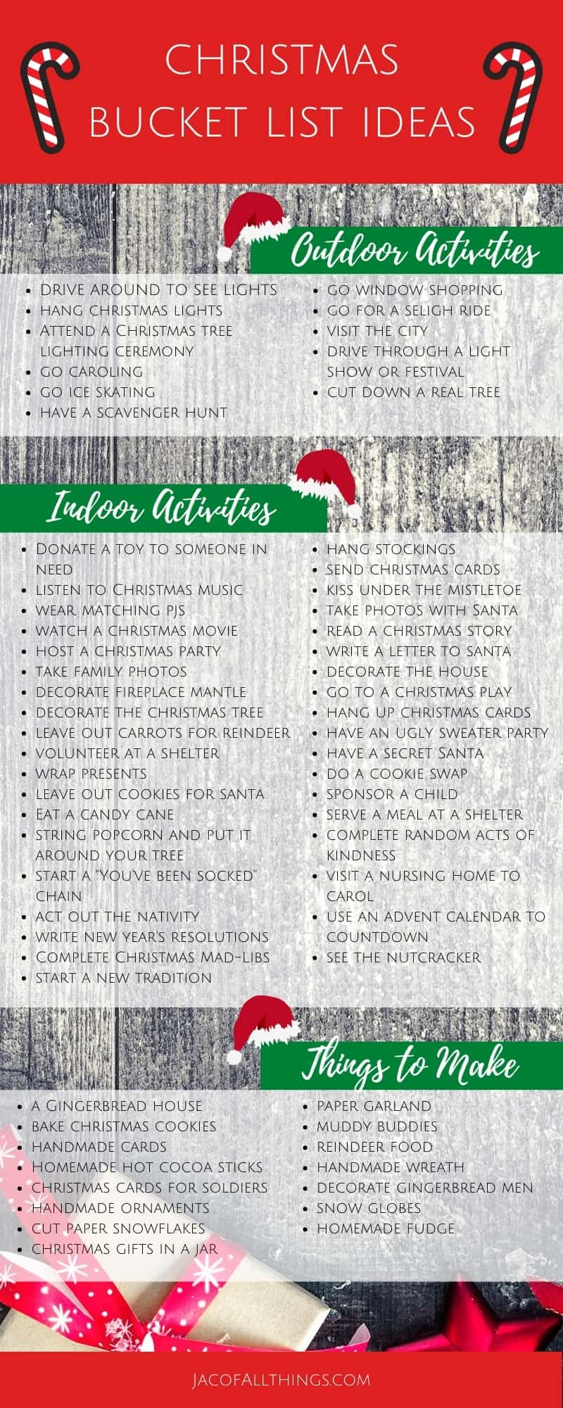 This holiday season, complete a Christmas Bucket List! Make the most of this Christmas with a fun list of activities to do and things to make! Perfect for the whole family to enjoy and create new lasting memories.