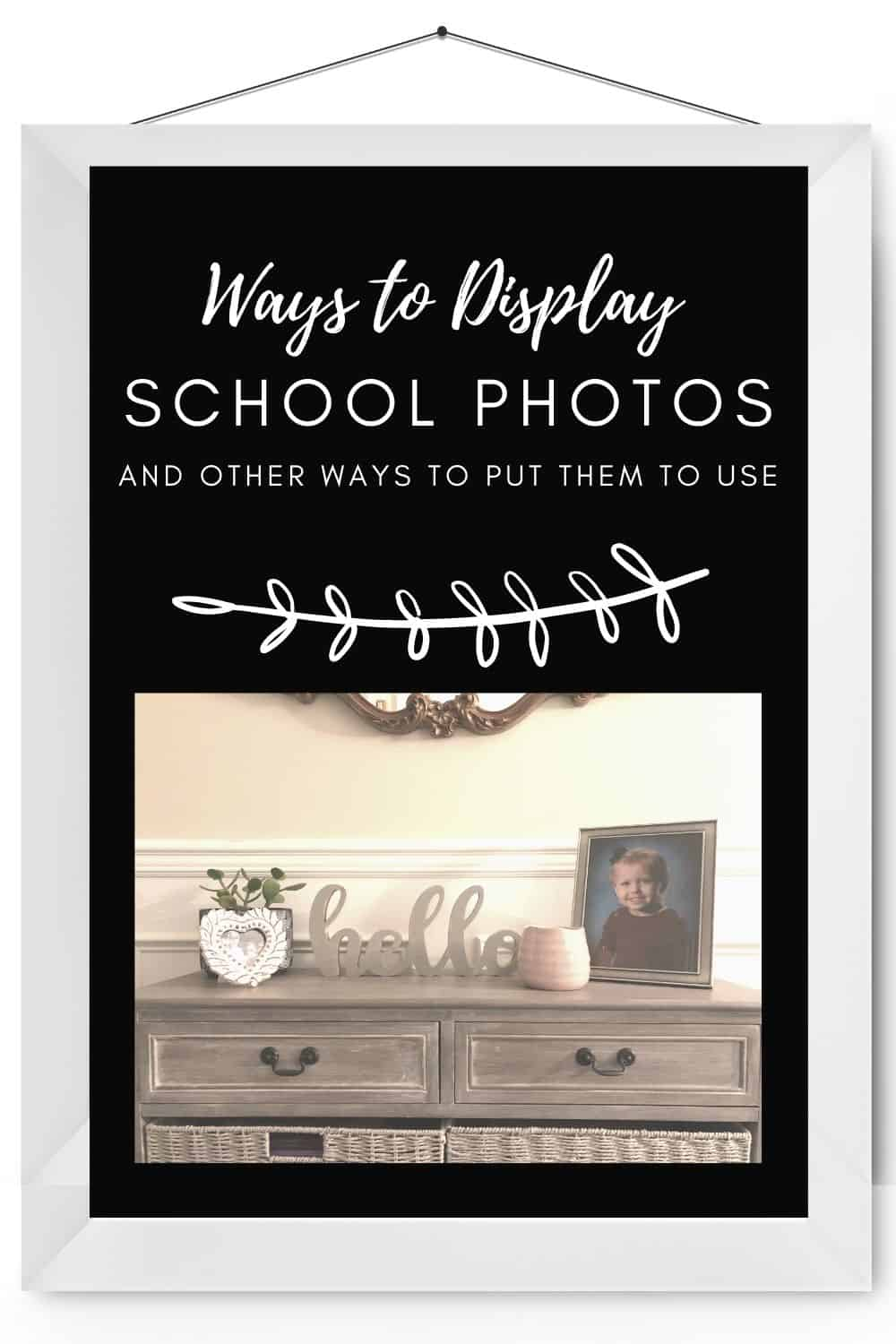 Put those school photos to good use! Here are some creative and fun ways to display your child's school photos over the years!