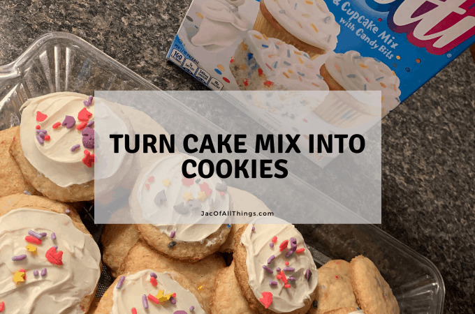 Turn cake mix into cookies