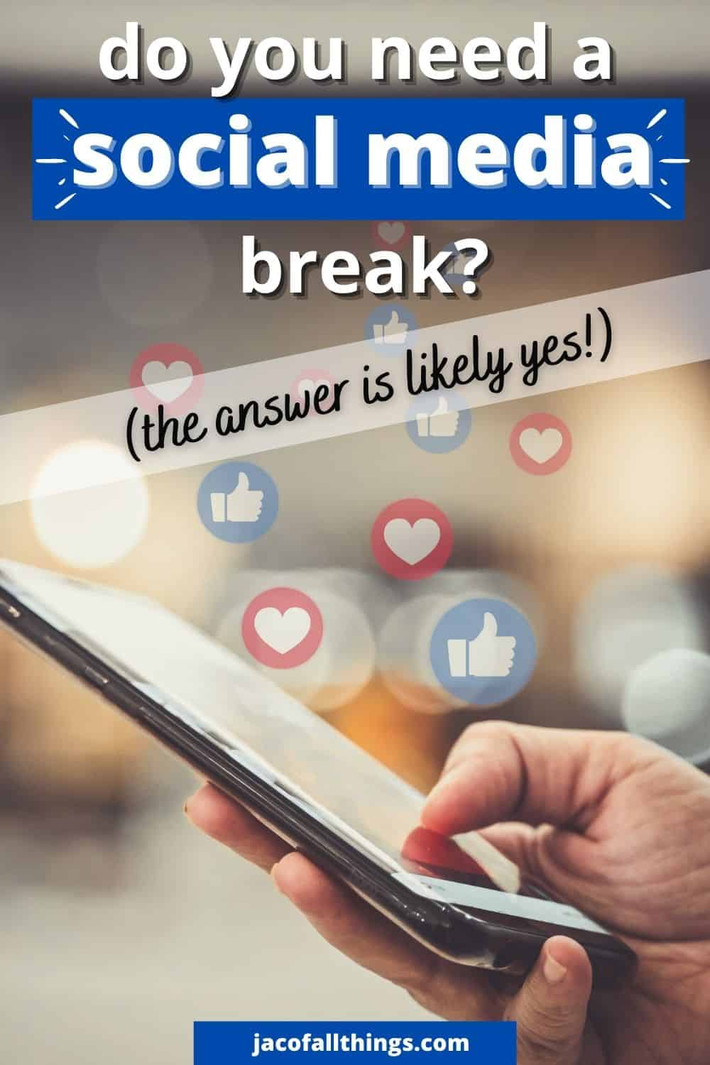 Are you spending too much time on social media? Learn how to set yourself up for success in taking a social media break and reducing the amount of time you spend on your phone.