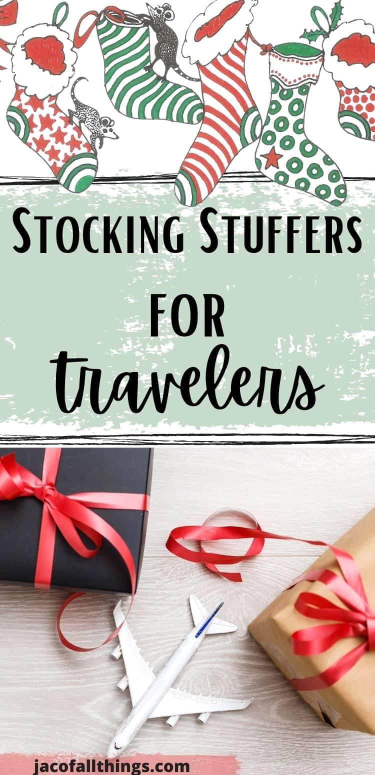 Are you on the search for a unique and creative gift for someone who loves to travel? Take a look at this list of stocking stuffer ideas for travelers! These awesome ideas include everything from super practical travel gifts to novelty items. (Best stocking stuffers for travelers. Unique gifts for travelers. Stocking stuffers for travelers.)